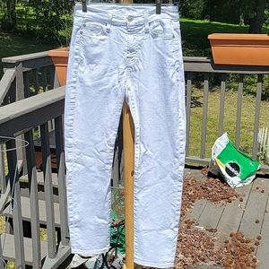 7 For All Mankind Kimmie Crop White Size 24